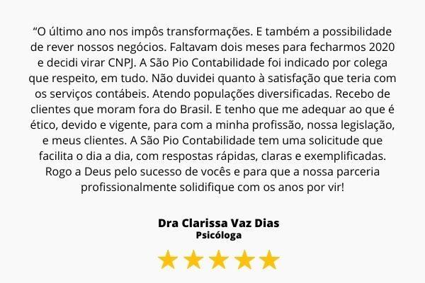 Dra Clarissa Vaz Dias